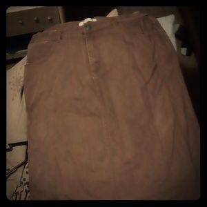 Other - Knee high brown khaki  skirt  front pockets no bac